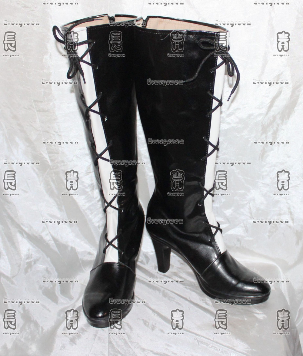 Beelzebub Hilda Black Girls Long Cosplay Shoes Boots C006