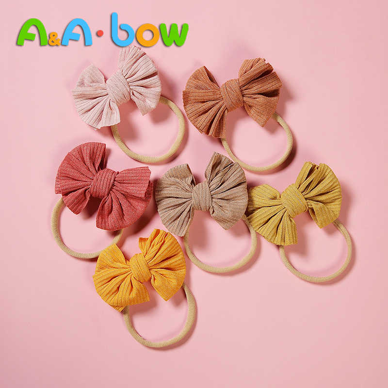 1pcs Baby Girls Bowknot Crown Headband Lace Elastic Princess Hair Band Fashion New Style Children Kids Hair Accessories