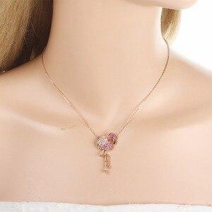 Image 4 - Tuliper подвеска в виде фламинго, кристальная подвеска в виде животного для женщин, вечерние ювелирные изделия, колье, бижутерия, pen이 이 Femme, маятник