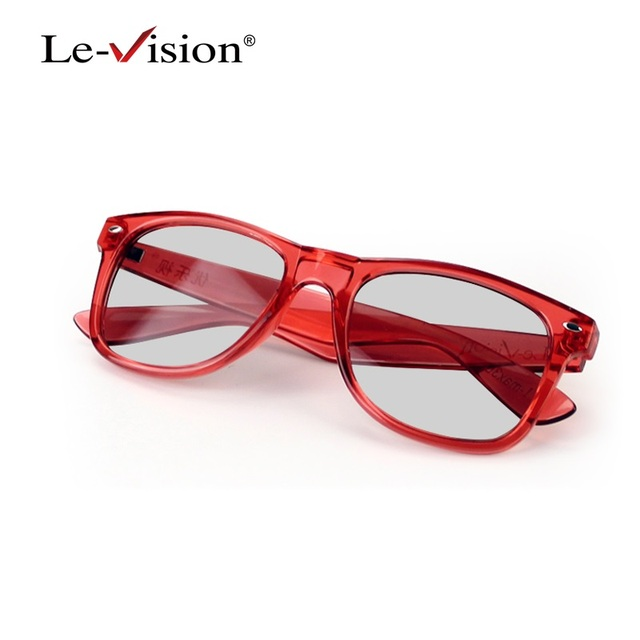 Le-Vision LST012 Red Adult Polarized 3D Glasses Passive /IMAX Glasses for RealD Cinema 3D System/ Home Theater DLP Projector