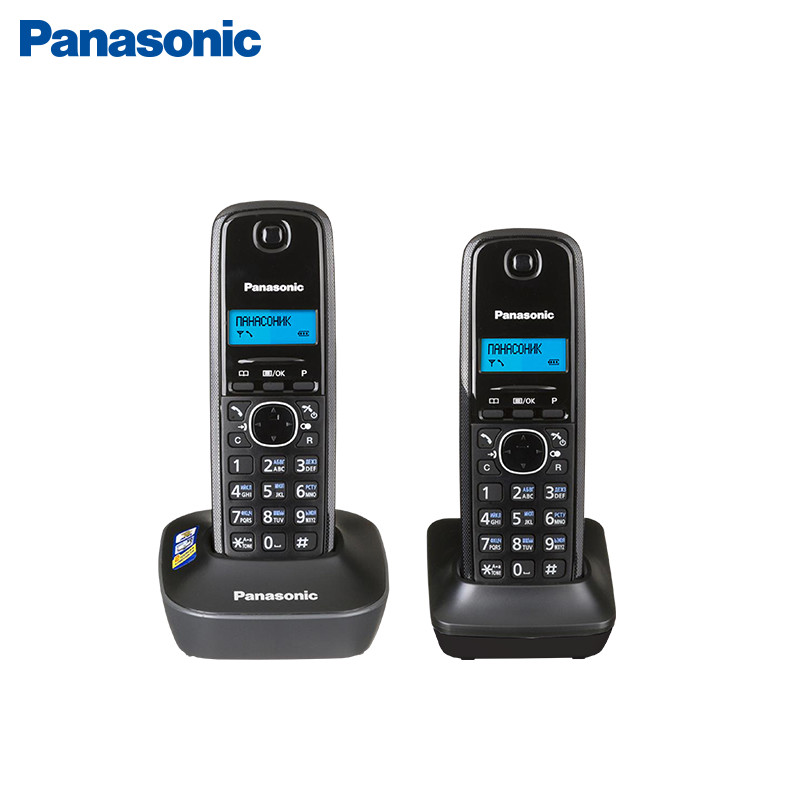 DECT Telephone Panasonic KX-TG1612 panasonic kx tg1611rur dect phone digital cordless telephone wireless phone system home telephone