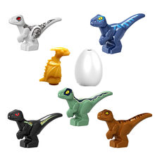 7Pcs Jurassic World Park Dinosaurs Indoraptor Pterosauria Egg Baby Dino Building Block Bricks City Assembly Toys For Children(China)