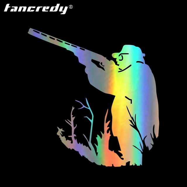 12 12 7cm huntsman hunter shotgun car sticker car body accessories