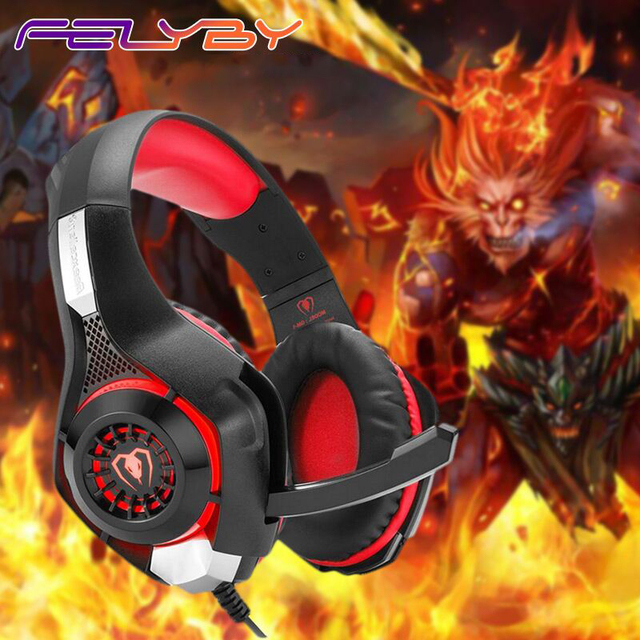 FELYBY GM-1 Wired Headphone headphones Gaming Headset 3.5mm Cable with Microphone Noise Cancelling Headphones with Microphone