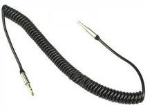 Черный кристалл вьющиеся Aux кабель для автомобильного аудио разъем 3.5 мм кабель для ipod наушники бесплатная расширение кабель