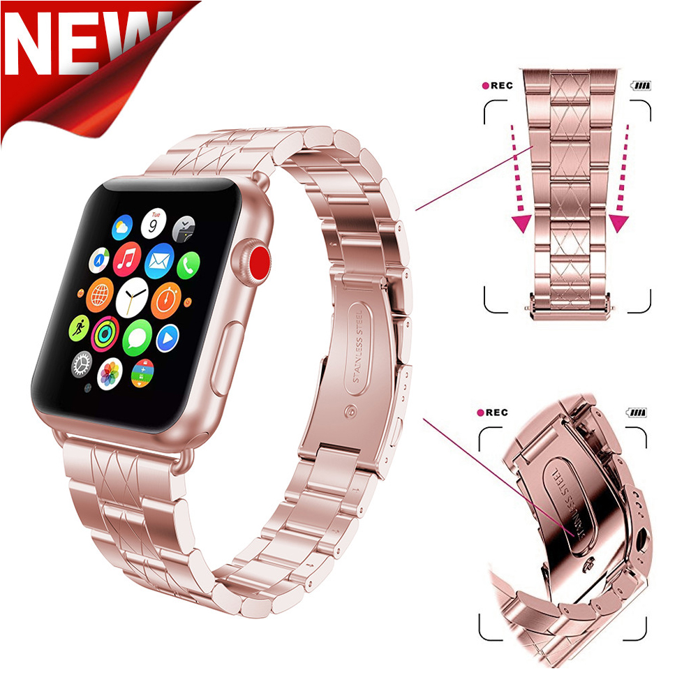 Stainless Steel Strap for Apple Watch Band 38mm 42mm iwatch Series 3 2 1 Sport Wrist band Link bracelet for Apple Watch band new arrival diamond stainless steel band for apple watch band strap link bracelet 38mm 42mm smart watch metal band for iwatch