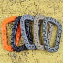 Multipurpose Carabiner D-ring Locking Tactical Keychain Backpack Buckle Outdoor Bag Camping Climbing Accessories