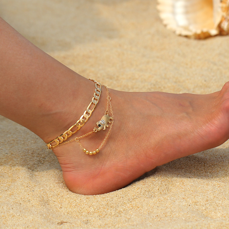 Women Summer Gift Beads Handmade Bohemian Style Foot Chain Anklets Jewelry Beach