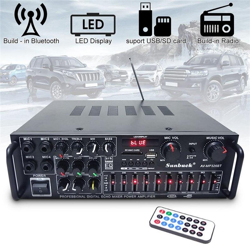 800 w 110 v 220 v 2 Canali Equalizzatore Bluetooth Stereo di Casa Amplificatore di Potenza Per Auto USB Amplificatore Amplificatore Home Theater Amplificatori audio