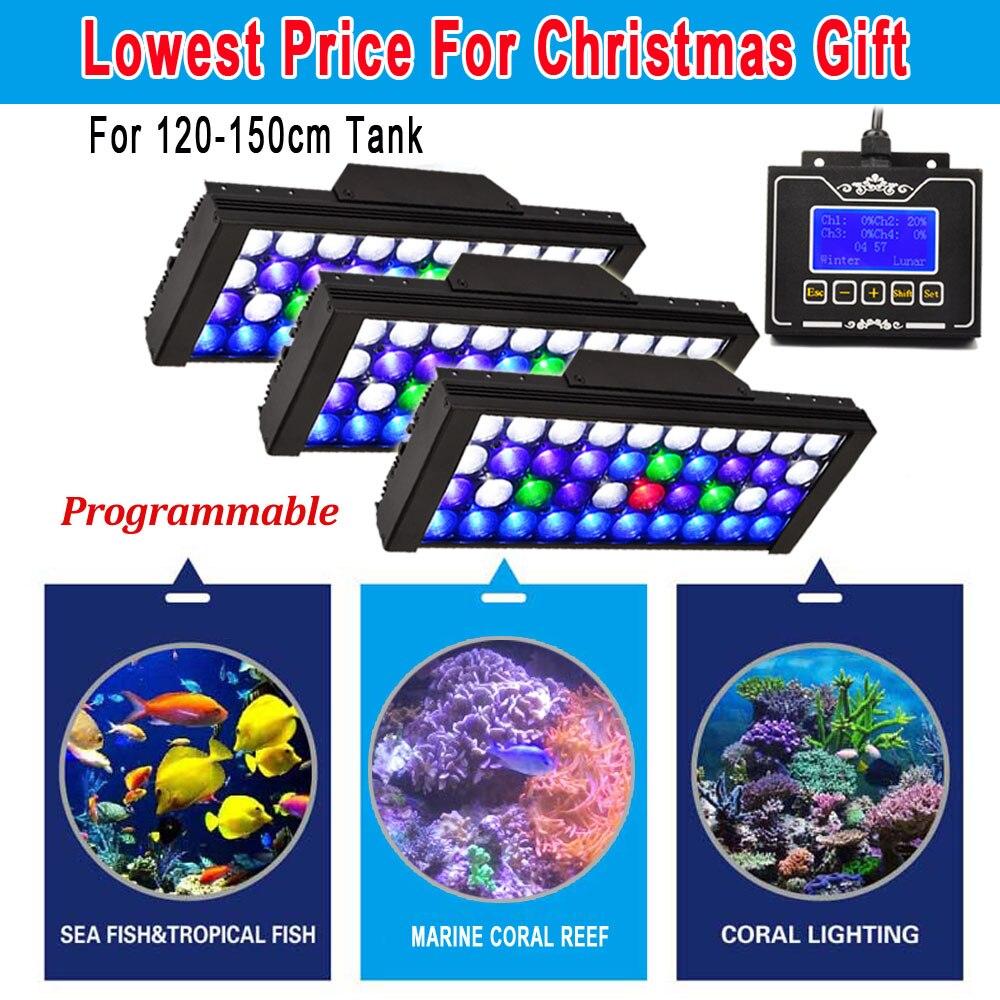 3 pcs DSunY Aqua 165 w Dimmable Programmable LED Full Spectrum Cultiver Fish Tank Récifs Coralliens Aquarium Lumière Lever Du Soleil