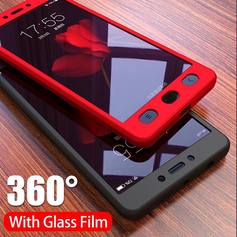 NAGFAK Роскошный 360 градусов чехол для телефона на для Xiaomi Redmi Note 4 4X матовый противоударный чехол для Note4 чехол для глобальной версии стекло-in Бамперы from Мобильные телефоны и телекоммуникации on AliExpress