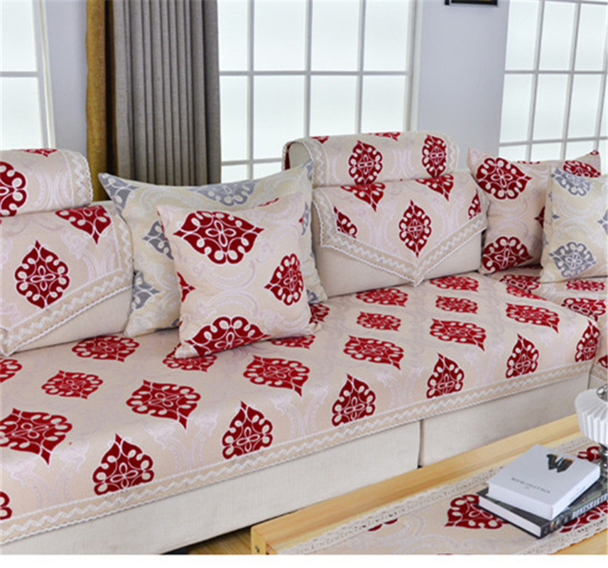 Hot New Couch Cover Chaise Sofa Cushion Cover Set Slip Resistant Sofa Towel  Seat Cushion