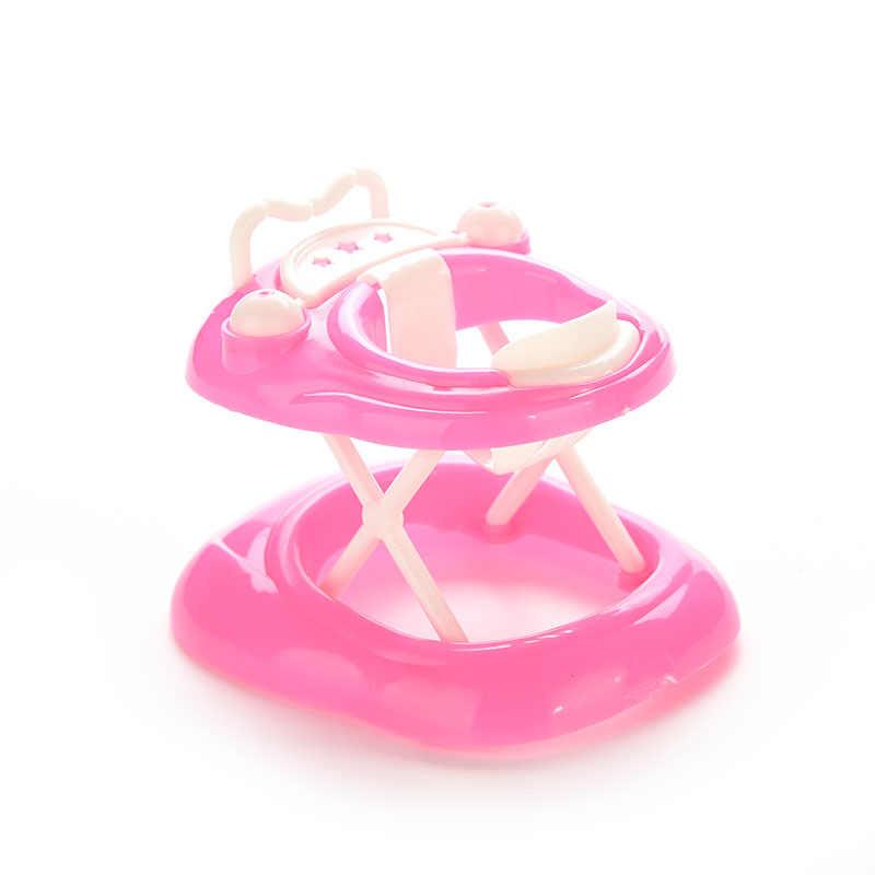 פלסטיק ורוד ריהוט בובת תינוק הליכון 1:6 חדש בובת של בית בובת מיניאטורות אורח חיים אביזרי ילדה ילדים למידה חיים