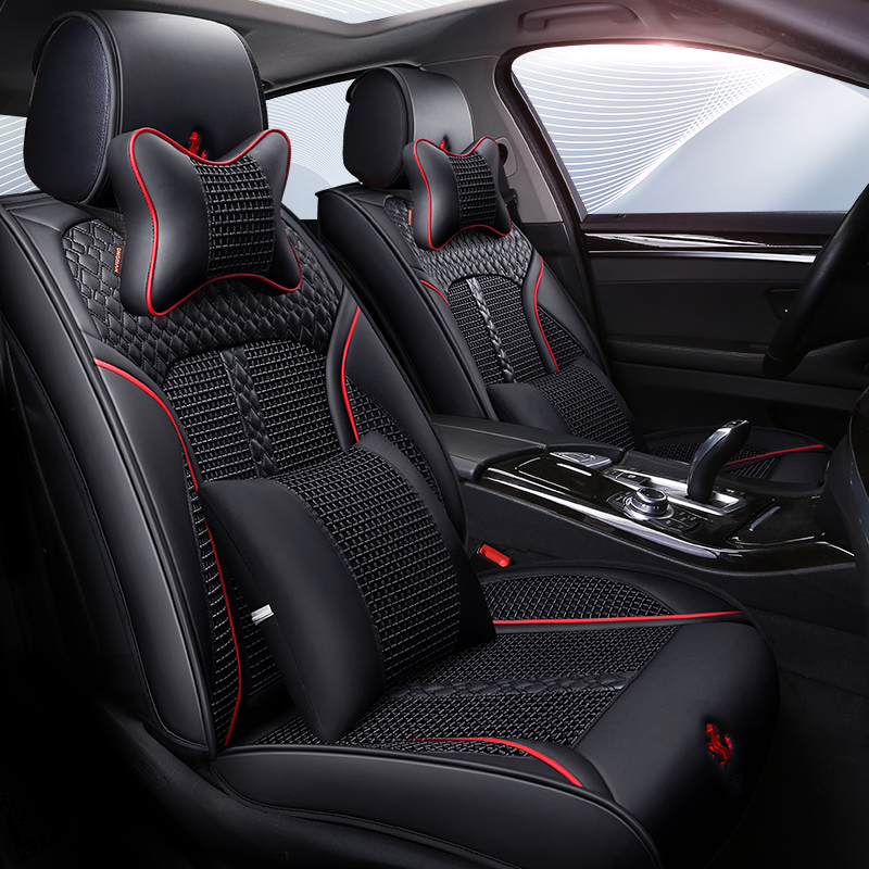 5D Full Surround Design Car Seat Cover Lozenge Cushion For Nissan Altima Rouge X Trail Murano Sentra Sylphy Versa Sunny Tiida