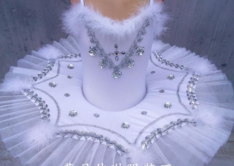 Filles blanc cygne lac Ballet princesse danse robe 2-8y enfants Tutu justaucorps danse Costumes robe de patinage artistique