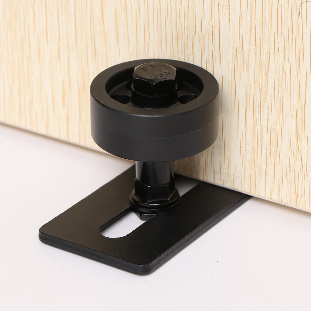 Дверные аксессуары углеродистая сталь Регулируемая черного цвета с порошковым покрытием Нижняя напольная направляющая Stay скользящий роллер комплектующие дверей