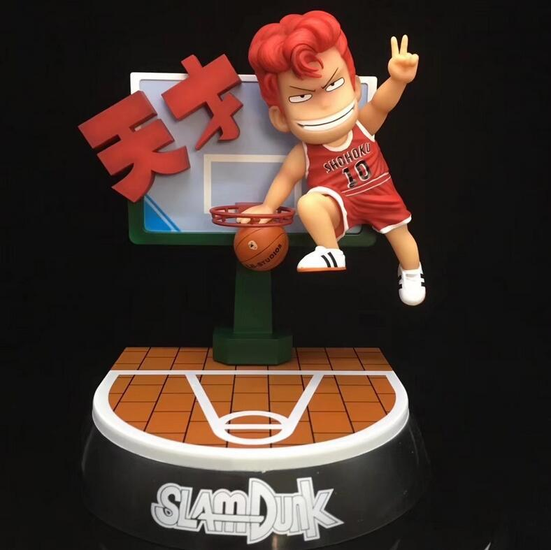 22cm SLAM DUNK Hanamichi Sakuragi Scenes Anime Action Figure PVC New Collection figures toys Collection for friend gift22cm SLAM DUNK Hanamichi Sakuragi Scenes Anime Action Figure PVC New Collection figures toys Collection for friend gift