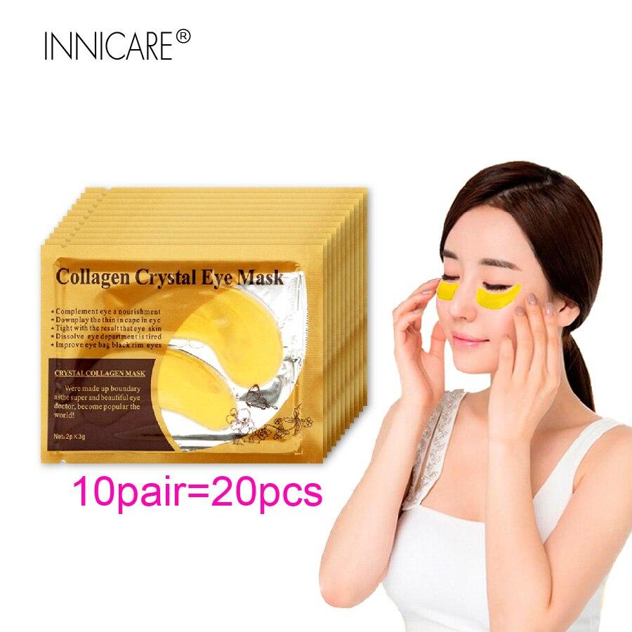 10Pairs= 20Pcs Gold Collagen Eye Mask Face Care Ageless Anti Aging Eye Bags Dark Circles Moisturizing Skin Care