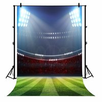 5x7ft Baseball Fans Party Green Grass Floor Polyester Photo Background Portrait Backdrop