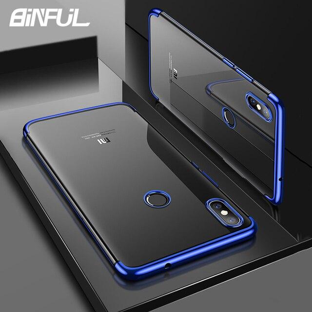Xiaomi Redmi S2 parachoques del caso cubierta de lujo transparente de TPU suave cubierta trasera de silicona para RedmiS2 Y2 S 2 caso teléfono Coque