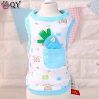 QY 2016 Summer 100 Cotton Clothes For Dog Pet Dog Clothing Puppy Pet Apparel Radish Casual