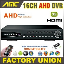 Best price 2017 DVR 16CH CCTV AHD Recorder 720P Real Time H.264 Digital Video Recorder Hybrid DVR 16 CH Channel HDMI Output for AHD Cameras