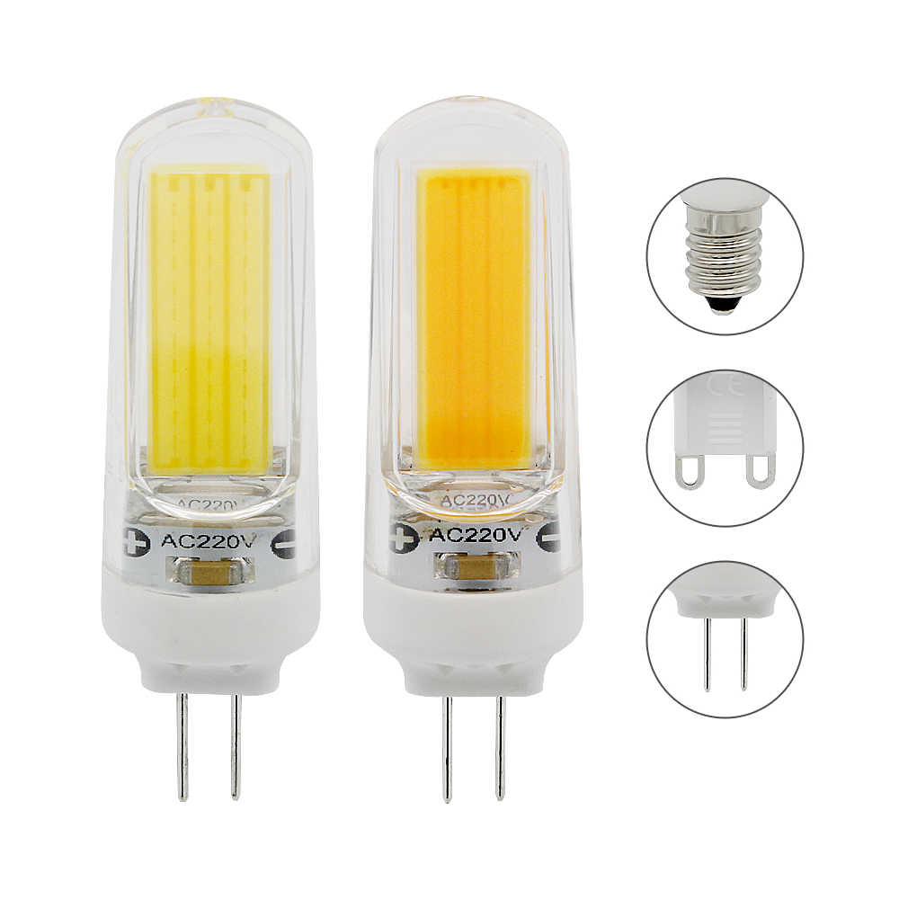 1pcs Dimmable 3W 250lm G4 G9 E14 AC 220V No Flicker COB LED Lamp Spotlight Lights Bulb Replace 20W 30W Halogen Light Chandelier