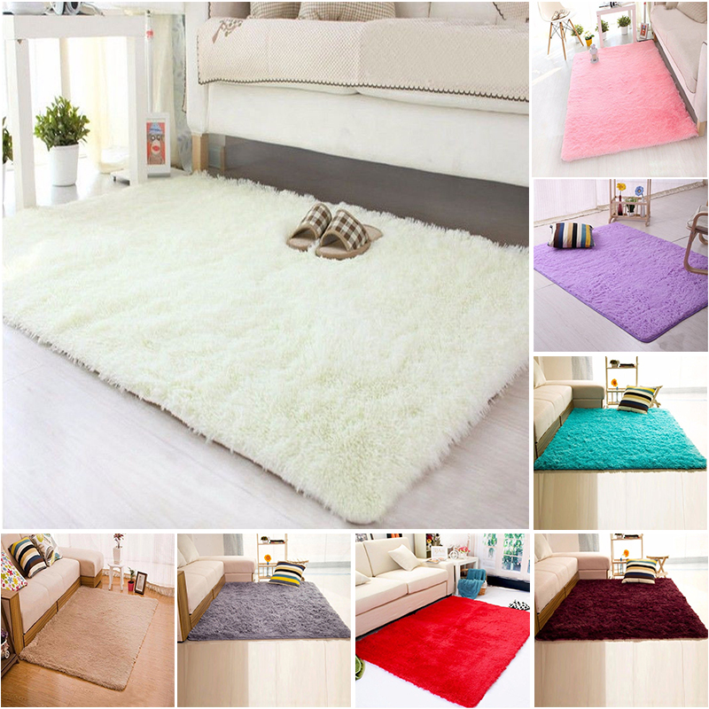 60 90 Cm Soft Fluffy Rugs Anti Skid Shaggy Area Rug Dining: NK DECORATION 40*60cm Fashion Soft Home Textile Carpet
