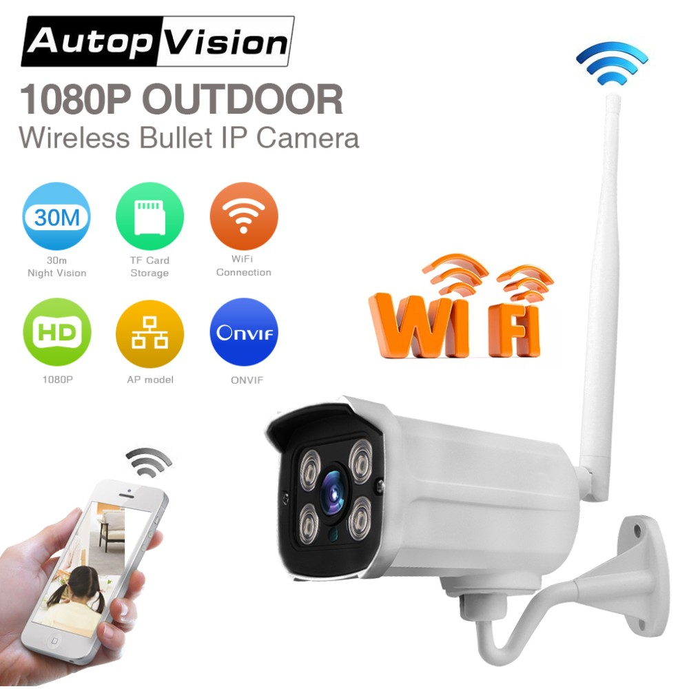 LS SC4 2MP WIFI IP Camera Full HD 1080P waterproof outdoor Bullet Camera ONVIF IR night vision wireless remote control Camera ip camera full hd wifi ip camera ip camera - title=