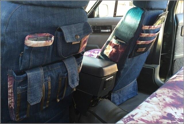 Denim Car Seat Cover Models Customize For Suzuki Auto