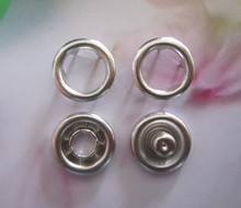 Free Shipping Factory Supply 11mm Long prong PRESS STUDS Open Ring No Sew Snaps buttons Fasteners Silver Color