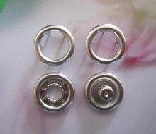 Gratis Verzending Factory Supply 11 Mm Lange Prong Drukknopen Open Ring Geen Naaien Snaps Knoppen Fasteners Zilver Kleur