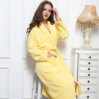 Cotton Winter Bathrobe Women Thick Lovers Long Warm Soft Flannel Full Sleeve Kimono Bath Robe Dressing Gown Bridesmaid Robes