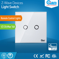 Z Wave Sensor Smart Home EU Wall Light Switch 2CH Gang Touch Sensitive Compatible With Z