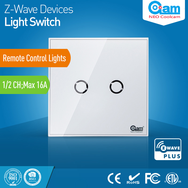 Z wave Sensor Smart Home EU Wall Light Switch 2CH Gang Touch Sensitive Compatible with Z-wave 300 500 Series Home Automation цена