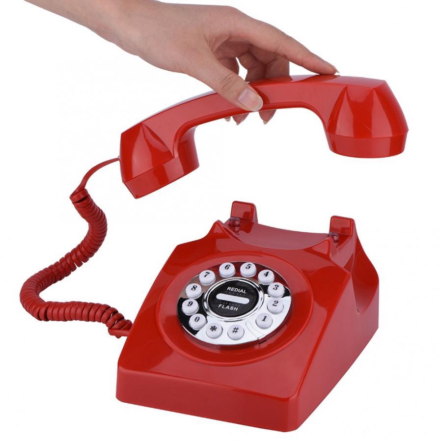 Где купить Проводной ретро-телефон с поворотным циферблатом для домашнего офиса, шумоподавление, винтажный античный телефон telefono fijo para casa