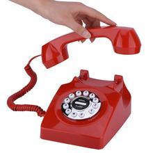 Teléfono Retro con cable y Dial giratorio para el hogar, oficina, cancelación de ruido, teléfono antiguo Vintage, teléfono fijo para casa