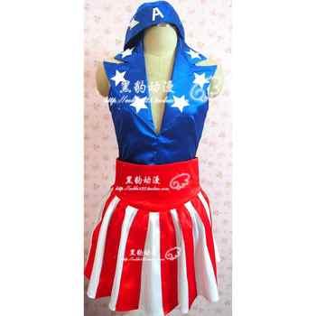 Captain America: Il Primo Vendicatore USO Dancer Dress Outfit Abbigliamento Festa di Halloween Costume Cosplay H020