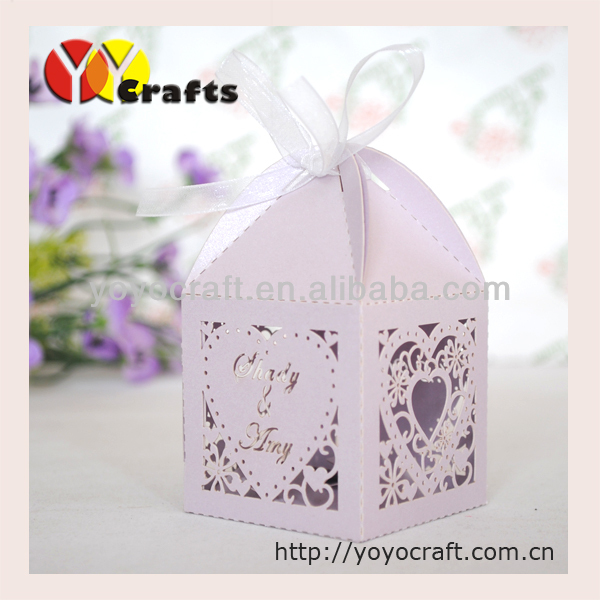heart big candy box 6*6cm laser cut decorative gift boxes with ...