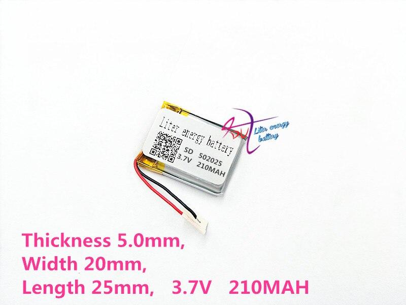 Unterhaltungselektronik Beste Batterie Marke Größe 502025 3,7 V 210 Mah Lithium-polymer-batterie Mit Schutz Bord Für Mp3 Mp4 Mp5 Gps Digitale Produkte Fr Aromatischer Geschmack Batterien
