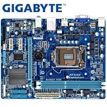 Материнская плата GIGABYTE GA-H61M-DS2 для настольных ПК H61 Socket LGA 1155 i3 i5 i7 DDR3 16G uATX UEFI биос оригинальная H61M-DS2 материнская плата