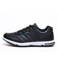 2016 Spring Autumn Sport Shoes Men Brand Black White Popular Running Shoes Leather Sport Sneakers Cheap