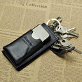 Classiac Vintage Men Genuine Leather Key Wallet Mini Simple Male Bag with Lighter Pocket