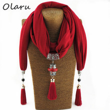 US $7.21 |Olaru Vintage Scarf Necklace Natural Stone Long Beads Pendant for Women Fringe Tassel Necklaces New Statement Jewelry Bijoux Hot-in Choker Necklaces from Jewelry & Accessories on Aliexpress.com | Alibaba Group