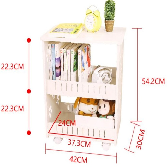 Multipurpose Bookshelf Double Layer Bookcase Storage Rack Bedside Table  Sofa Side Table Living Room Storage