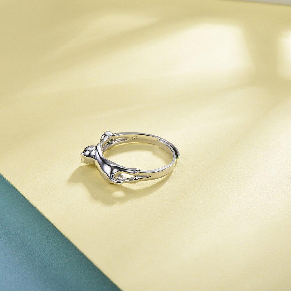 Silvercute Solid 925 Ring Topaz Cat Fine Jewelry Gemstone Engagement - Նուրբ զարդեր - Լուսանկար 5