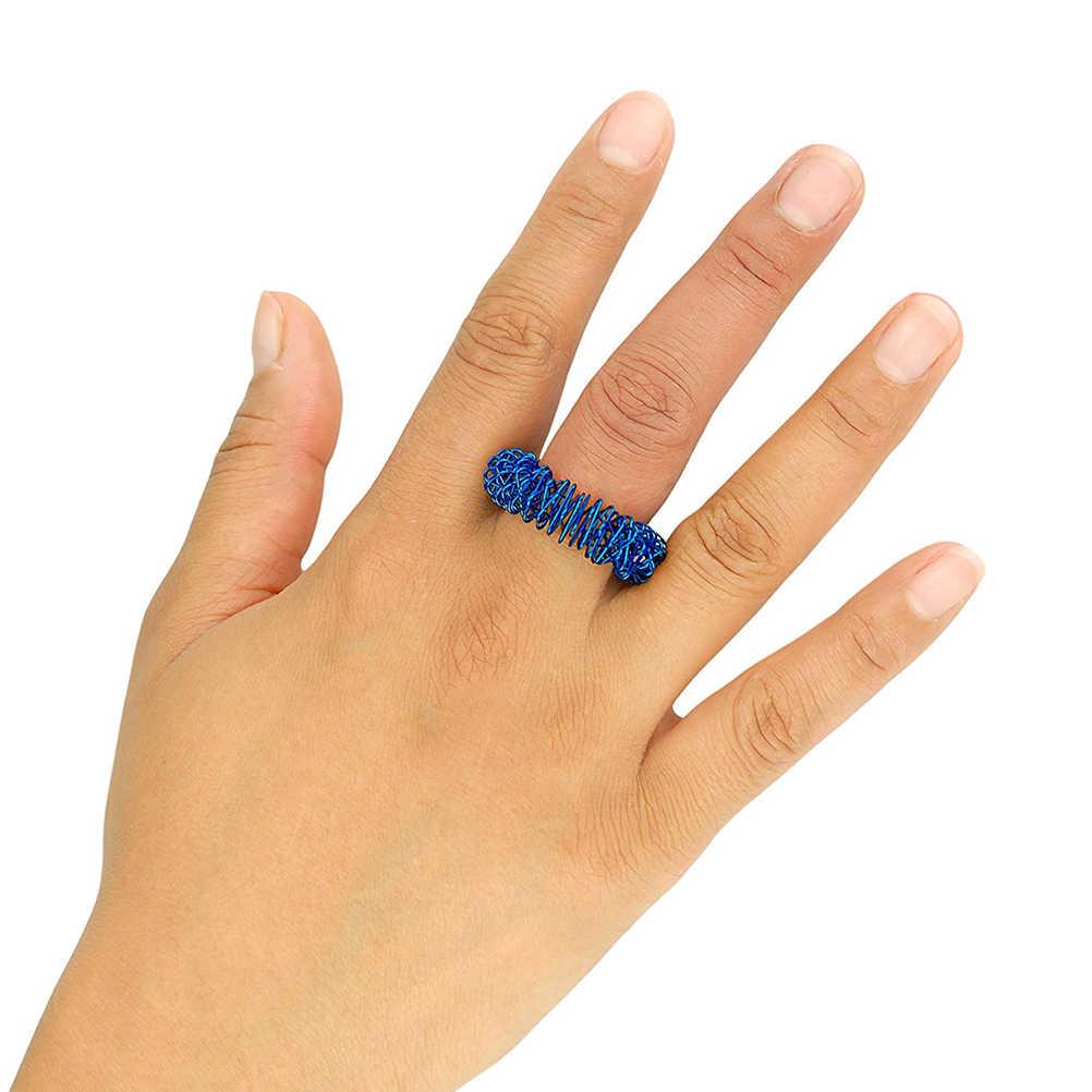 5 шт. массажные акупунктурные кольца для пальцев уход за здоровьем акупрессур Массажер для рук облегчение боли снятие стресса помощь принадлежности для сна