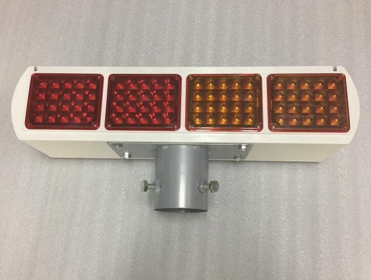 Red Plus Yellow One Solar Safety Warning Light LED Traffic Signs LED Solar Safety Flashing Indicator Intersection  LED R+Y