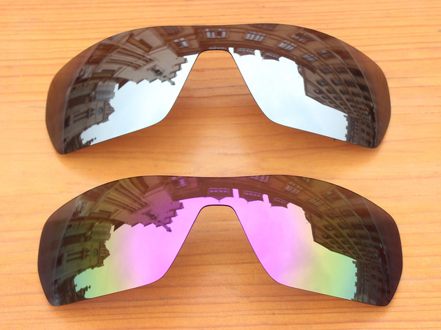 554480f257607 Cromo plata y púrpura 2 unidades espejo polarizado Objetivos para Rama Gafas  de sol Marcos protección