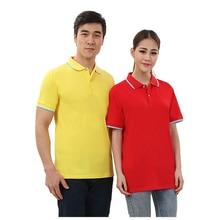eda0c4b28f358 Nueva marca de mujer hombres camisa de Polo para colores puros Polos de  algodón de manga corta Camiseta camisetas